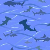 Sharks and waves background Royalty Free Stock Photo