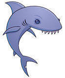 Sharky. Vector cartoon illustration of a shark with sharp teeth royalty free illustration