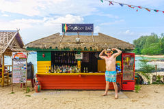 The Sharky bar is famous for foreign tourist Stock Photo