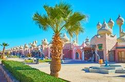 Sharm El谢赫,埃及建筑学  库存图片