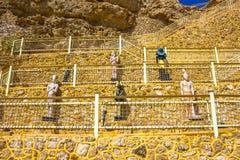 Sharm El谢赫,埃及- 2017年9月24日:豪华旅馆看法作海滩胜地Sharm 5个星与蓝色的天 库存照片