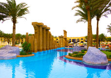 Sharm El谢赫,埃及- 2017年4月13日:豪华五担任主角旅馆RIXOS希捷SHARM 库存照片