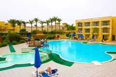 Sharm El谢赫,埃及- 2017年4月13日:豪华旅馆极光 库存图片