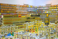 Sharm El谢赫,埃及- 2017年4月13日:水烟筒在礼品店 库存照片