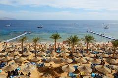 SHARM EL谢赫,埃及- 11月30 :游人是在vacat 库存图片