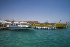 水警艇在Sharm El谢赫 图库摄影