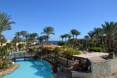 Sharm el-Sheij es una ciudad de vacaciones en Egipto, situado entre el desierto de la península del Sinaí y el Mar Rojo fotos de archivo