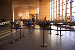 """Sharm el Sheikh, ÄGYPTEN-†""""am 12. Juni: Warteraum am Flughafen am 12. Juni 2015 Stockbilder"""
