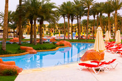 Sharm el Sheikh, Ägypten - 13. April 2017: Das Luxushotel RIXOS SEAGATE SHARM mit fünf Sternen Stockfoto