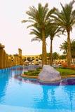 Sharm el Sheikh, Ägypten - 13. April 2017: Die Luxusfünf spielen Hotel RIXOS SEAGATE SHARM die Hauptrolle Stockbild