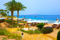 Sharm El Sheikh, Египет - 11-ое апреля 2017: Здания и гостиница зоны курорт Sharm El Sheikh 4 сезонов Стоковое Фото