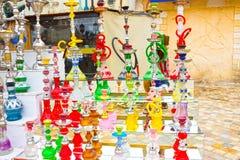 Sharm El Sheikh, Египет - 13-ое апреля 2017: Кальян на сувенирном магазине Стоковые Изображения RF