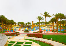 Sharm El Sheikh, Египет - 13-ое апреля 2017: Роскошные 5 играют главные роли гостиница RIXOS SEAGATE SHARM Стоковые Изображения