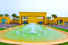 Sharm El Sheikh, Египет - 13-ое апреля 2017: Роскошные 5 играют главные роли гостиница RIXOS SEAGATE SHARM Стоковые Изображения RF