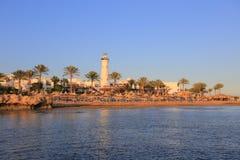 Sharm El-Sheikh на заходе солнца Стоковое Фото