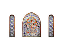 Арабское окно на белой предпосылке, Sharm El Sheikh, Египет Стоковая Фотография