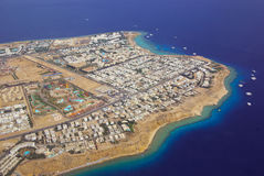 Sharm el sheikh from above Stock Photos