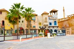 Sharm el Sheikh -April 12, 2017: The British pub outside front without people Stock Images