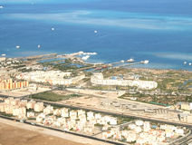 Sharm-el-Sheikh coast(view from plane) Stock Images