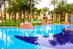 Sharm El Sheikh Egipt, Kwiecień, - 13, 2017: Luksusowy pięć gwiazd hotel RIXOS SEAGATE SZARM Fotografia Stock