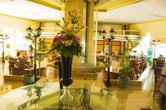 Sharm El Sheikh Egipt, Wrzesień, - 23, 2017: Hotelu lobby przy luksusową pięć gwiazda hotelu sen miejscowością nadmorską Szarm 5 Obraz Stock