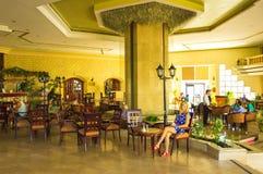 Sharm El Sheikh Egipt, Wrzesień, - 23, 2017: Hotelu lobby przy luksusową pięć gwiazda hotelu sen miejscowością nadmorską Szarm 5 Fotografia Stock