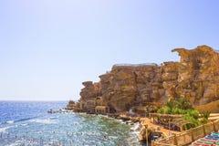 Sharm El Sheikh Egipt, Wrzesień, - 24, 2017: Widok luksusowy hotel Marzy miejscowość nadmorską Szarm przy dniem z błękitem 5 gwia Obraz Royalty Free