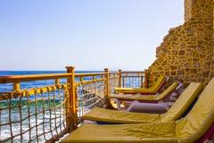 Sharm El Sheikh Egipt, Wrzesień, - 25, 2017: Widok luksusowy hotel Marzy miejscowość nadmorską Szarm przy dniem z błękitem 5 gwia Obrazy Royalty Free