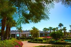 Sharm El Sheikh Egipt, Wrzesień, - 26, 2017: Budynki i terenu Montera Carlo kurortu Hotelowy sharm el sheikh Zdjęcie Royalty Free