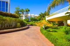 Sharm El Sheikh Egipt, Wrzesień, - 26, 2017: Budynki i terenu Montera Carlo kurortu Hotelowy sharm el sheikh Zdjęcia Royalty Free