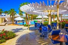 Sharm El Sheikh Egipt, Wrzesień, - 26, 2017: Budynki i terenu Montera Carlo kurortu Hotelowy sharm el sheikh Zdjęcie Stock