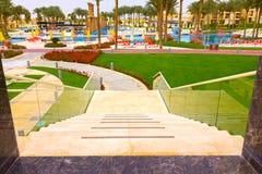 Sharm el Sheikh, Egipto - 13 de abril de 2017: El hotel de lujo RIXOS SEAGATE SHARM de cinco estrellas Fotografía de archivo libre de regalías