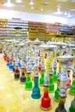 Sharm el Sheikh, Egipto - 13 de abril de 2017: La cachimba en la tienda de regalos Foto de archivo
