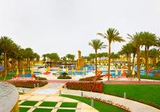 Sharm el Sheikh, Egipto - 13 de abril de 2017: Los cinco de lujo protagonizan el hotel RIXOS SEAGATE SHARM Imagenes de archivo