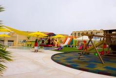 Sharm el Sheikh, Egipto - 13 de abril de 2017: Los cinco de lujo protagonizan el hotel RIXOS SEAGATE SHARM Fotografía de archivo libre de regalías