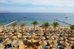 SHARM EL SHEIKH, EGIPTO - 30 DE NOVEMBRO: Os turistas estão no vacat Imagens de Stock