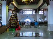 Sharm el Sheikh, Egito - 3 de janeiro de 2019: O lobbi em Domina Coral Bay Resort e TERMAS fotos de stock royalty free