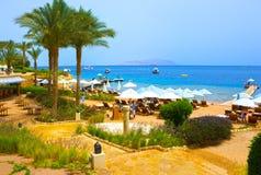 Sharm el-Sheikh, Egitto - 11 aprile 2017: Costruzioni ed hotel di area una località di soggiorno Sharm el-Sheikh di quattro stagi Fotografia Stock