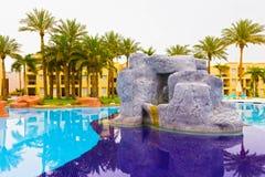 Sharm el-Sheikh, Egitto - 13 aprile 2017: I cinque di lusso star l'hotel RIXOS SEAGATE SHARM Immagine Stock Libera da Diritti
