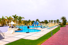 Sharm el-Sheikh, Egitto - 13 aprile 2017: L'hotel di lusso RIXOS SEAGATE SHARM di cinque stelle Immagine Stock Libera da Diritti