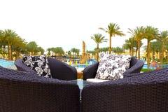 Sharm el-Sheikh, Egitto - 13 aprile 2017: L'hotel di lusso RIXOS SEAGATE SHARM di cinque stelle Immagine Stock