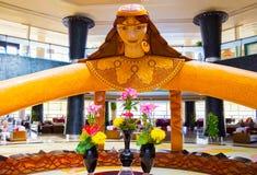 Sharm El Sheikh, Egypt - April 08, 2017: Hotel lobby at the luxury five stars hotel Barcelo Tiran Sharm. At Sharm El Sheikh, Egypt on April 08, 2017 Royalty Free Stock Photos
