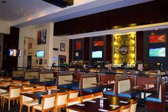 Sharm el Sheikh, Egypt -April 13, 2017: The interior of Sharm Hard Rock Cafe in Egypt Royalty Free Stock Images
