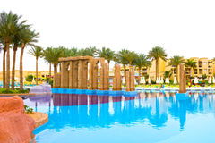 Sharm El Sheikh, Egypt - April 13, 2017: The luxury five star hotel RIXOS SEAGATE SHARM Stock Images