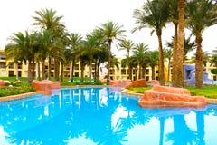 Sharm El Sheikh, Egypt - April 13, 2017: The luxury five stars hotel RIXOS SEAGATE SHARM Royalty Free Stock Image