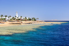 Sharm El Sheikh Egypt. Coast of Sharm El Sheikh Egypt as seen from the sea Stock Photo