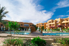 SHARM EL SHEIKH, EGYPT - DECEMBER 15: The tourists are on vacation at popular hotel on December 15, 2014 in Sharm el Sheikh, Egypt Stock Image