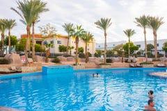 Sharm El Sheikh, Egypt - January 05, 2019: Tropical luxury Sultan Gardens Resort on Red Sea beach. Sharm El Sheikh, Egypt - January 05, 2019: Tropical luxury royalty free stock photography