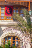 SHARM EL SHEIKH, EGYPT - JULY 9, 2009. house with a portrait of Che Guevara Stock Image