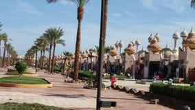Sharm el-Sheikh, Egypt - November 30, 2016: shopping and entertainment complex in Sharm El Sheikh, Egypt stock footage